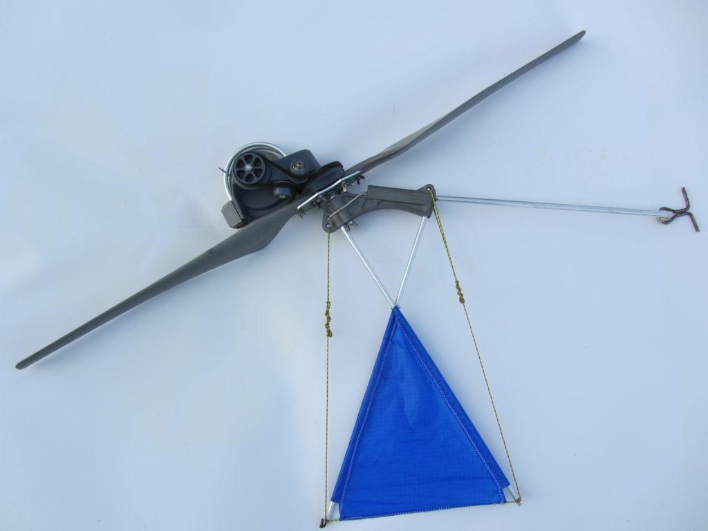 left view of Kiwee's propeller